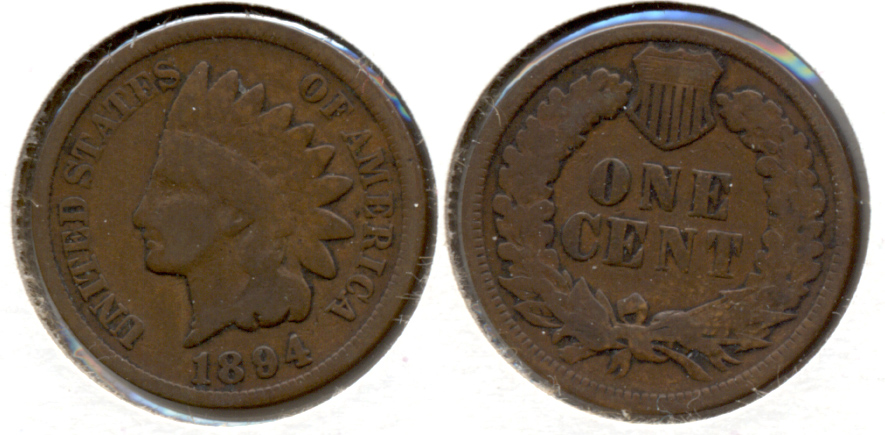 1894 Indian Head Cent Good-4 ap