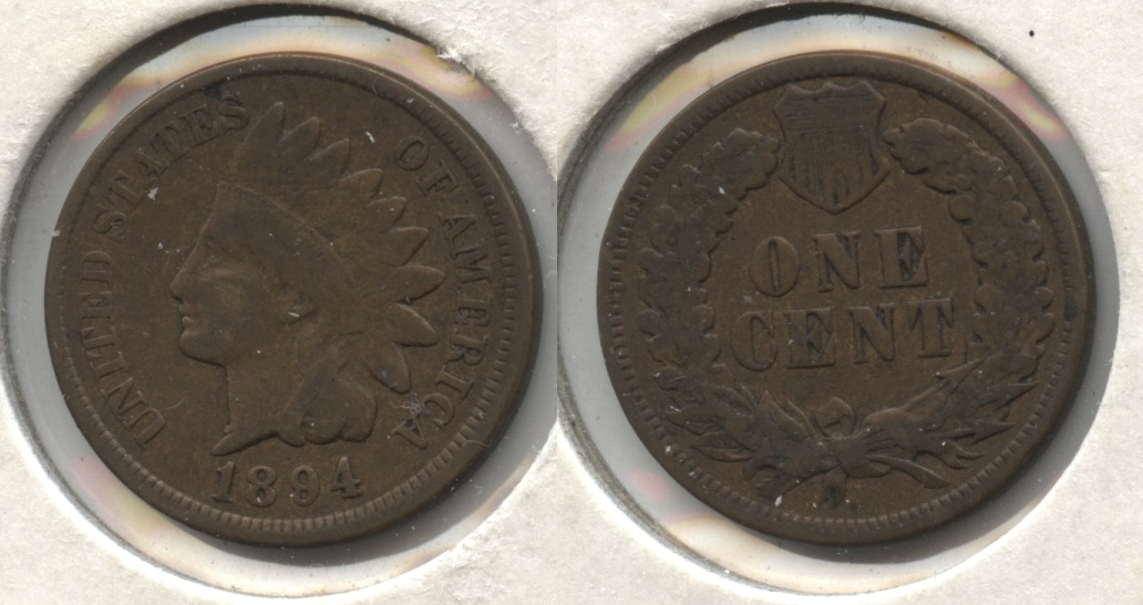 1894 Indian Head Cent Good-4 #be