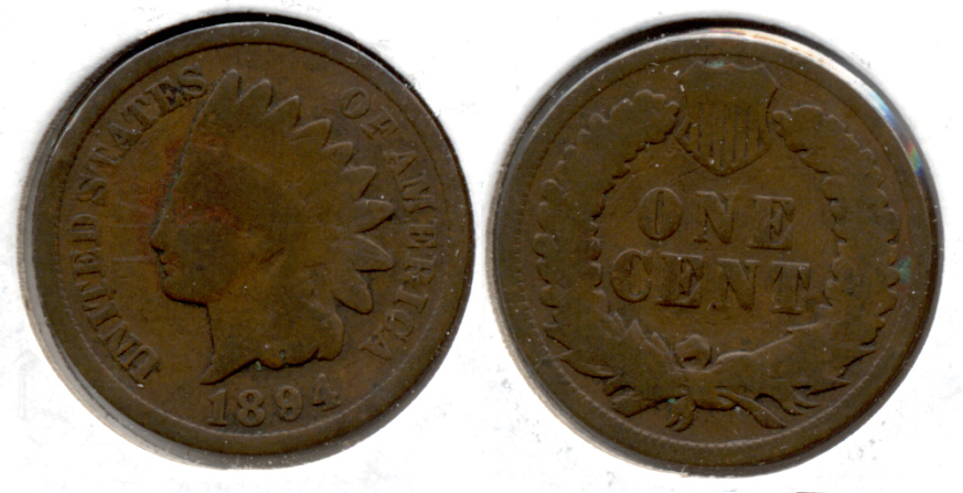 1894 Indian Head Cent Good-4 d