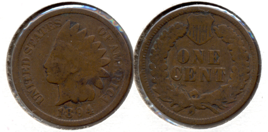 1894 Indian Head Cent Good-4 f