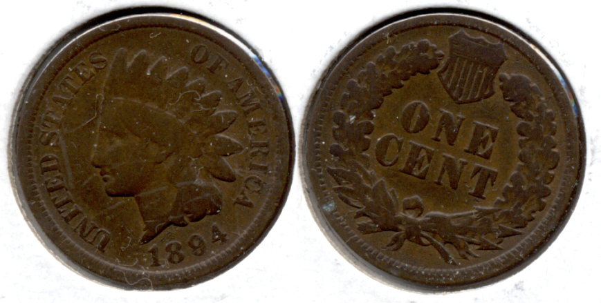 1894 Indian Head Cent Good-4 n