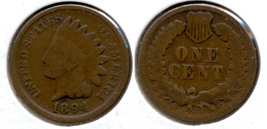 1894 Indian Head Cent Good-4 r