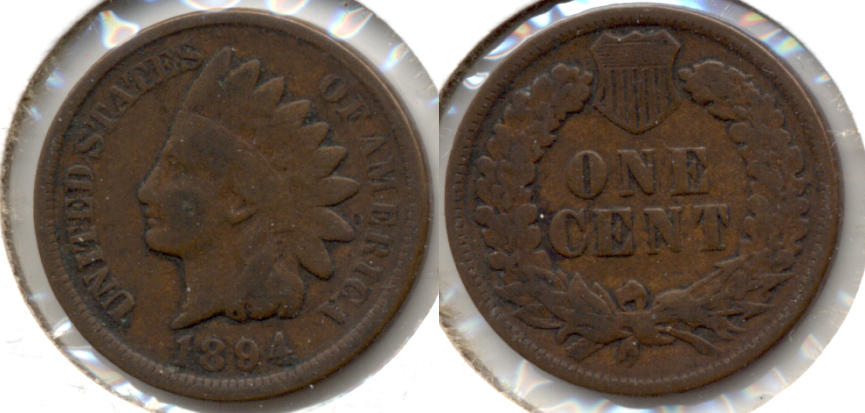 1894 Indian Head Cent Good-4 t