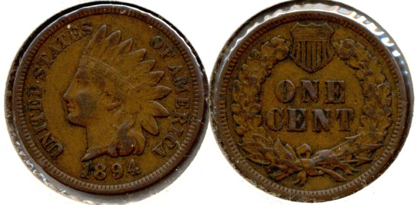 1894 Indian Head Cent VF-20