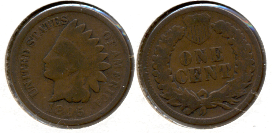 1895 Indian Head Cent Good-4 f