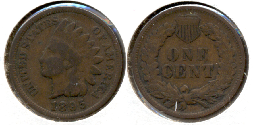 1895 Indian Head Cent Good-4 h