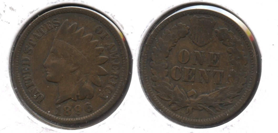 1896 Indian Head Cent Fine-12