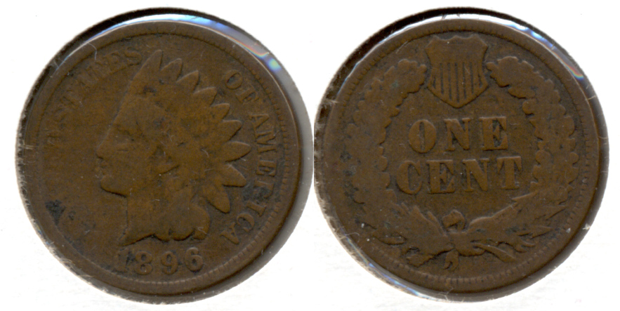 1896 Indian Head Cent Good-4 g