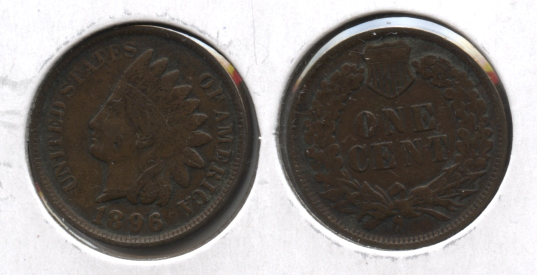 1896 Indian Head Cent VF-20 #c