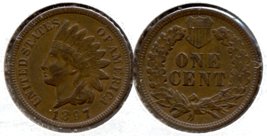 1897 Indian Head Cent EF-40