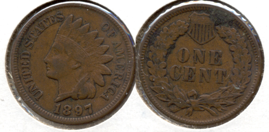 1897 Indian Head Cent VF-20