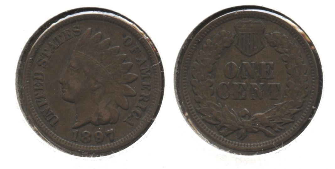 1897 Indian Head Cent VF-20 #f