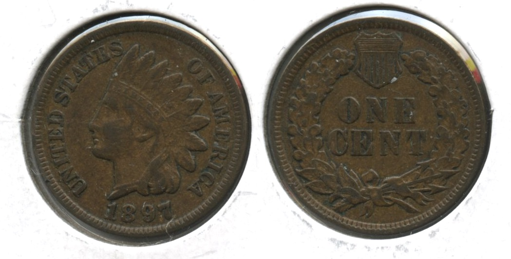 1897 Indian Head Cent VF-30