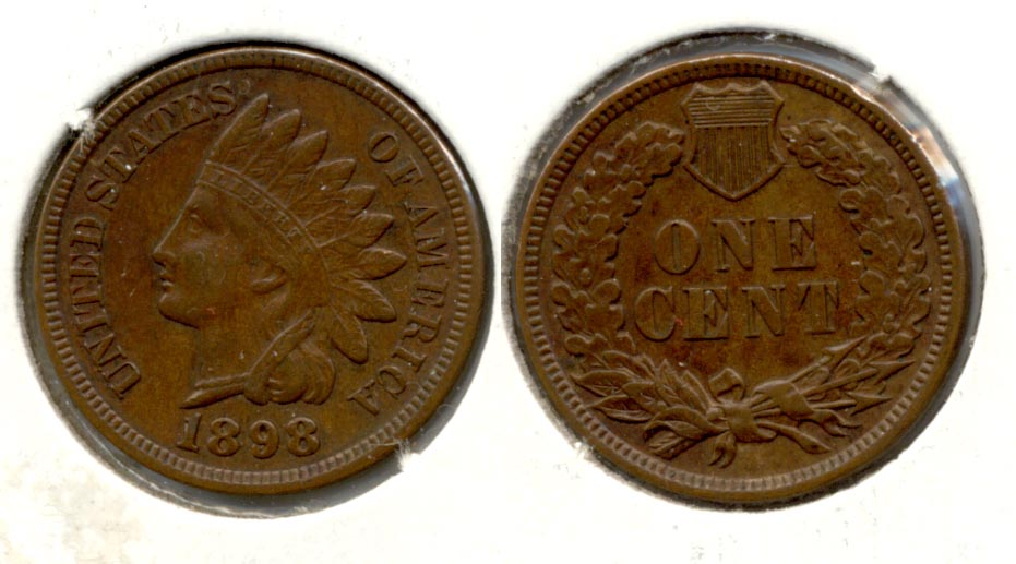 1898 Indian Head Cent AU-50 a