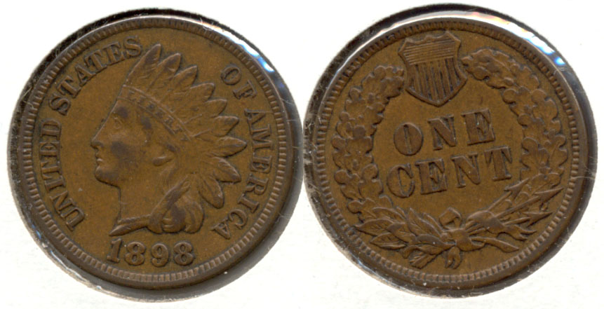 1898 Indian Head Cent EF-40