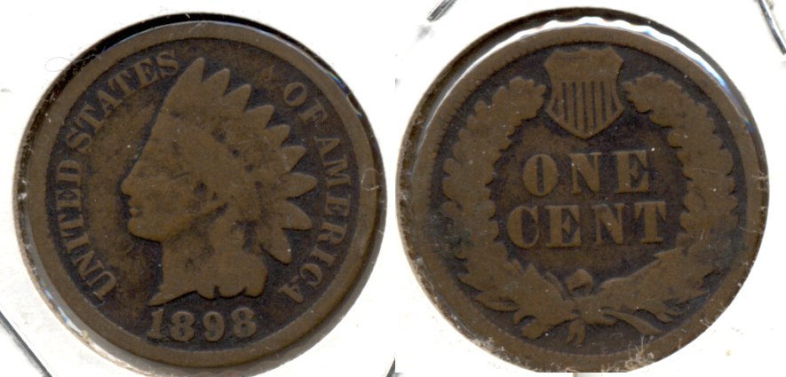 1898 Indian Head Cent Good-4
