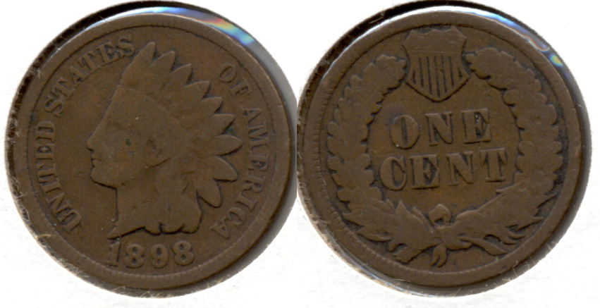 1898 Indian Head Cent Good-4 n