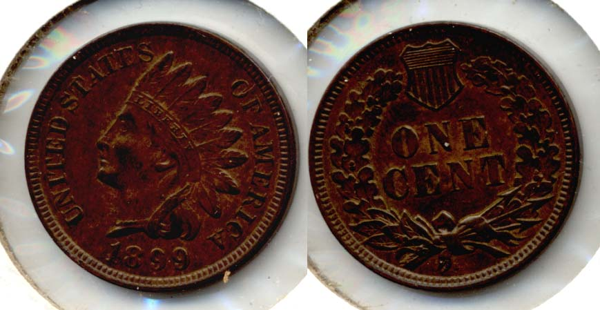 1899 Indian Head Cent AU-55