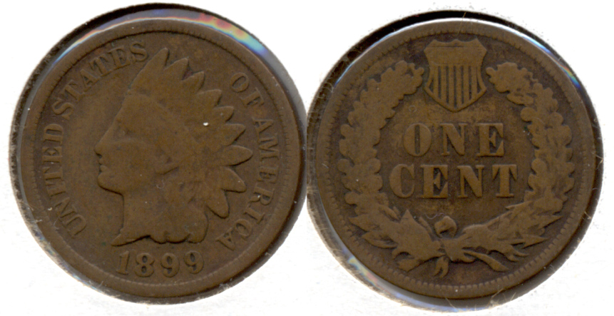 1899 Indian Head Cent Good-4 l