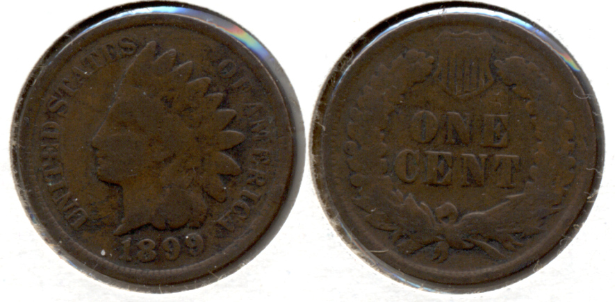 1899 Indian Head Cent Good-4 t