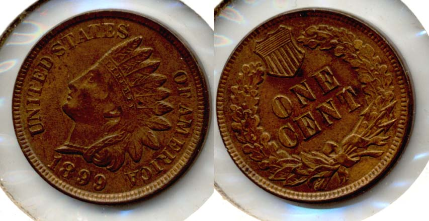 1899 Indian Head Cent MS-60 Brown