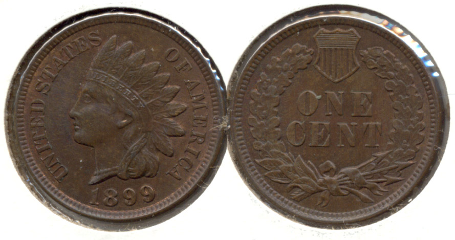 1899 Indian Head Cent MS-64 Brown
