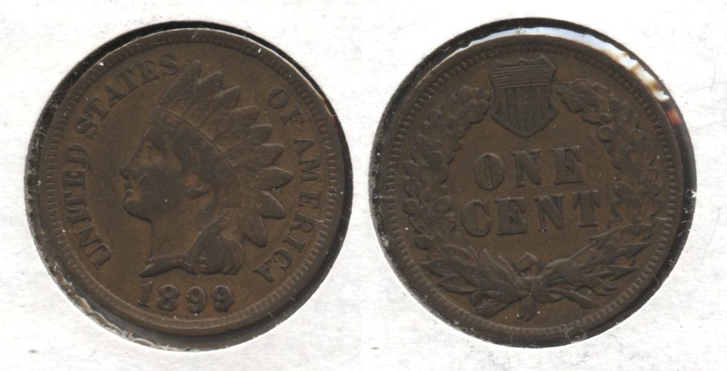 1899 Indian Head Cent VF-20 #e