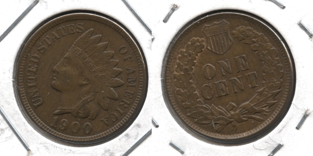 1900 Indian Head Cent AU-50 #b