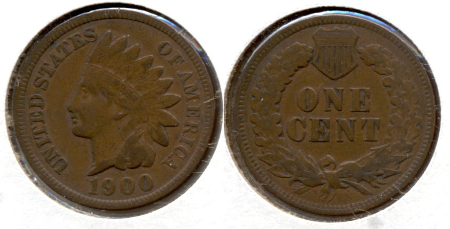 1900 Indian Head Cent Fine-12 a