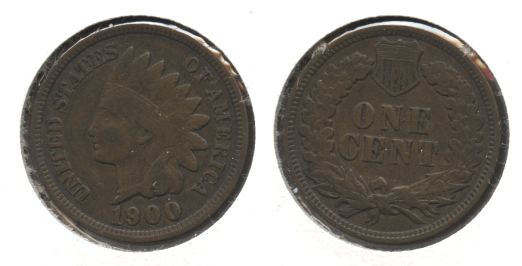 1900 Indian Head Cent Fine-12 #g