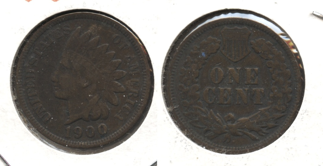 1900 Indian Head Cent Fine-12 #k