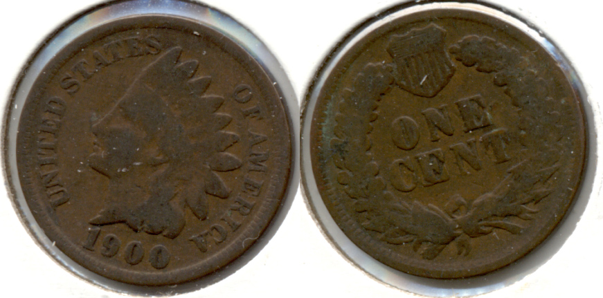 1900 Indian Head Cent Good-4