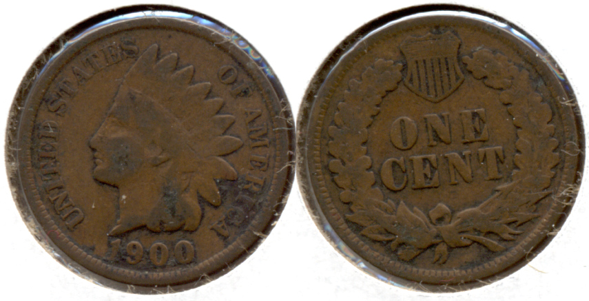 1900 Indian Head Cent Good-4 a