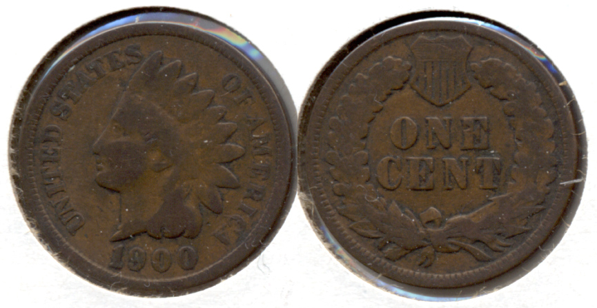 1900 Indian Head Cent Good-4 c