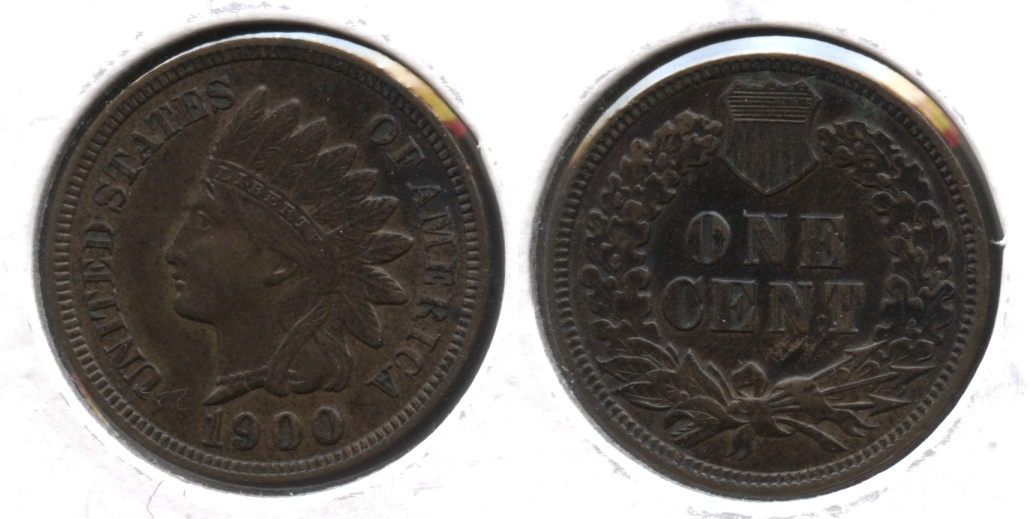 1900 Indian Head Cent MS-60 Brown #a