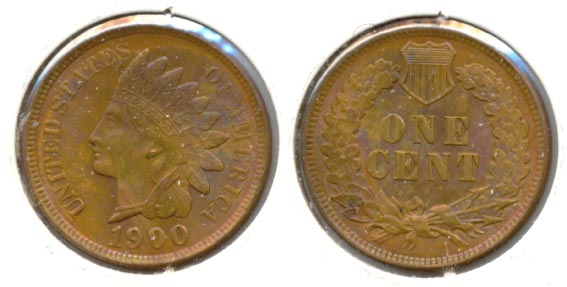 1900 Indian Head Cent MS-63 Red Brown a