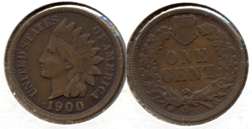 1900 Indian Head Cent VF-20 d