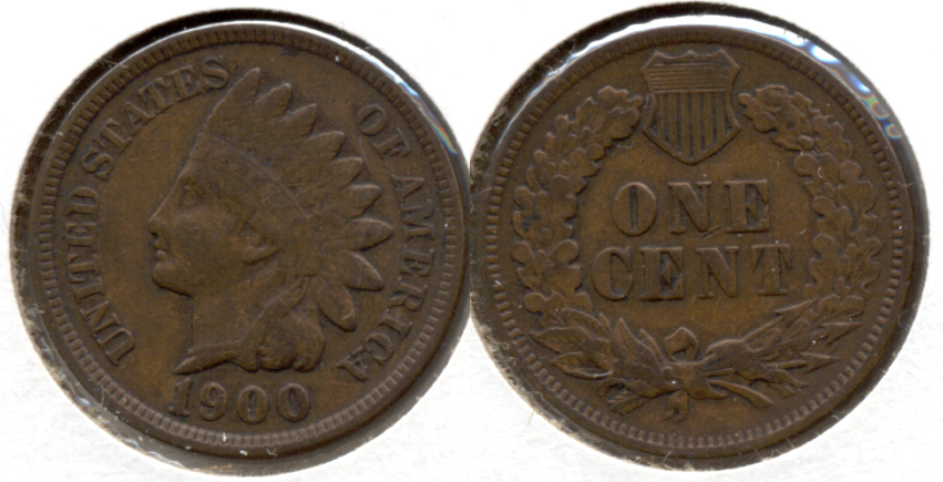 1900 Indian Head Cent VF-20 e
