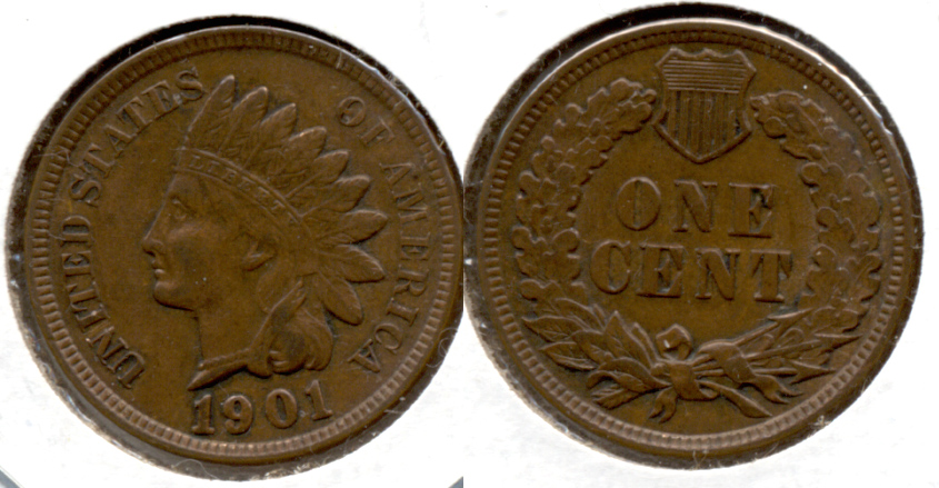1901 Indian Head Cent EF-40 e