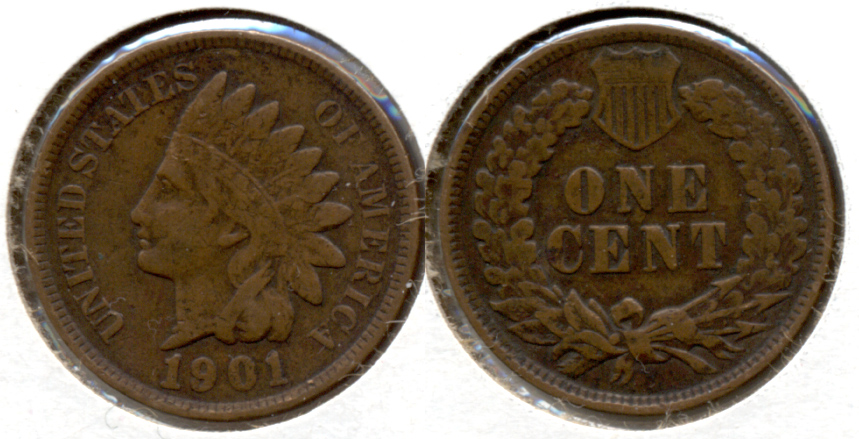 1901 Indian Head Cent Fine-12 b