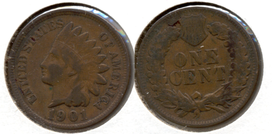 1901 Indian Head Cent Fine-12 i