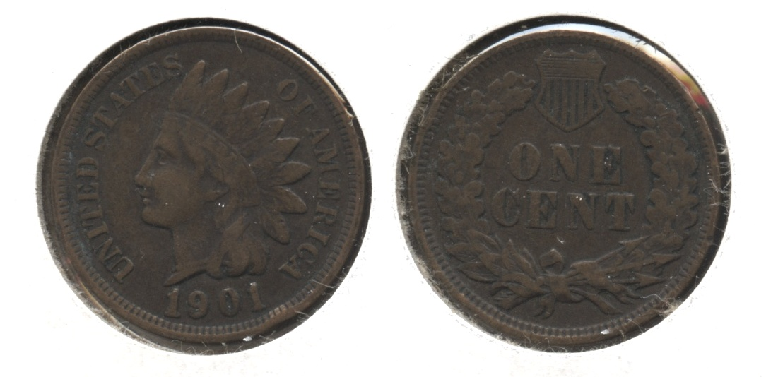 1901 Indian Head Cent Fine-12 #n