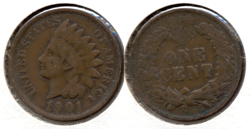 1901 Indian Head Cent Good-4 c