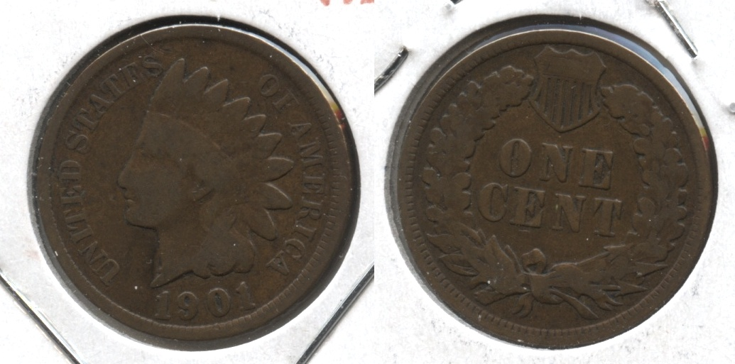 1901 Indian Head Cent Good-4 #k