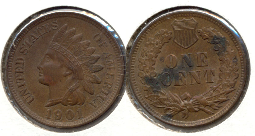 1901 Indian Head Cent MS-63 Brown b