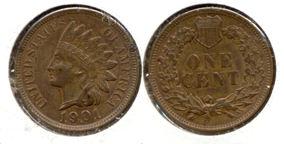 1901 Indian Head Cent MS-63 Brown d