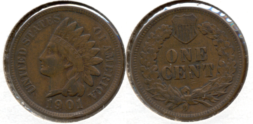 1901 Indian Head Cent VF-20