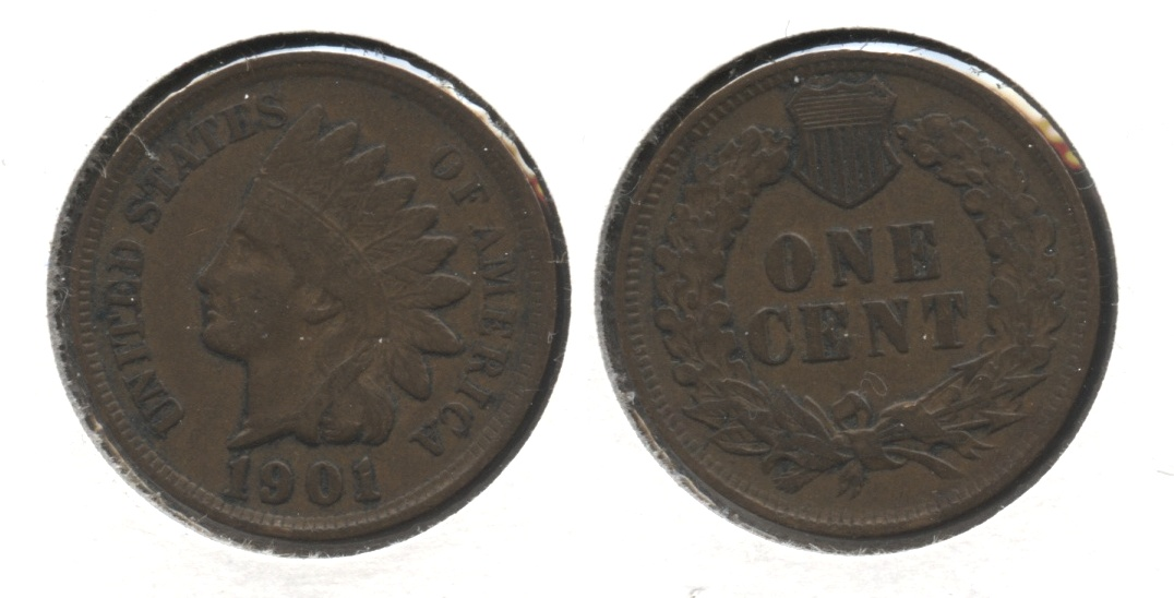 1901 Indian Head Cent VF-20 #l