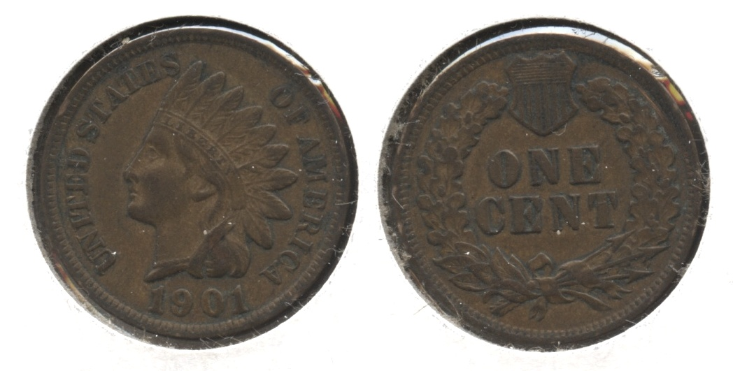 1901 Indian Head Cent VF-20 #m