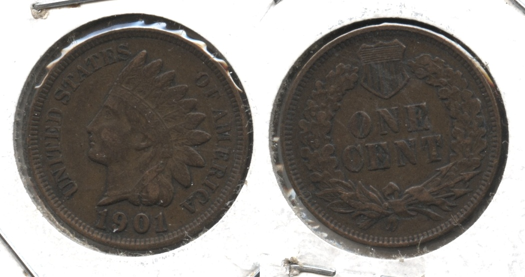 1901 Indian Head Cent VF-20 #q